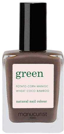 Green Nail Lacquer - Dark Wood