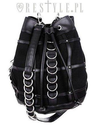 Restyle Cage Sack Bag Goth Punk Emo Rocker D-rings Cross Body Purse Handbag