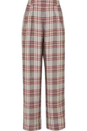 MARKUS LUPFER Molly checked crepe trousers