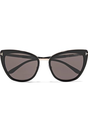 TOM FORD | Cat-eye acetate and gold-tone sunglasses | NET-A-PORTER.COM