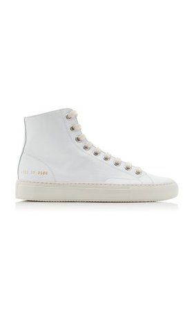 Tournament High-Top Leather Sneakers By Common Projects | Moda Operandi
