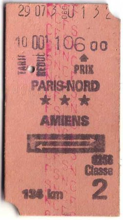 paris ticket