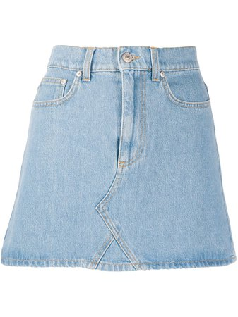 Chiara Ferragni Fitted Denim Skirt Ss20 | Farfetch.com
