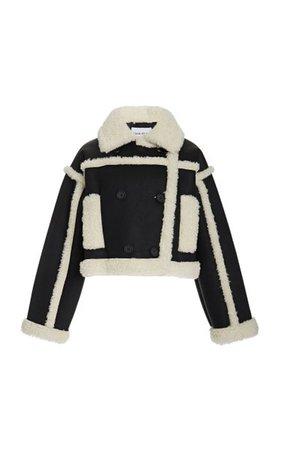 Kristy Shearling-Trimmed Faux Suede Jacket By Stand Studio | Moda Operandi