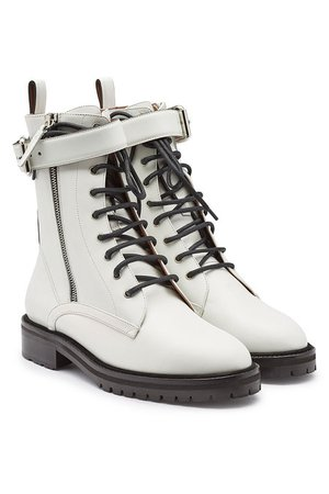 Tabitha Simmons - Max Leather Ankle Boots - white