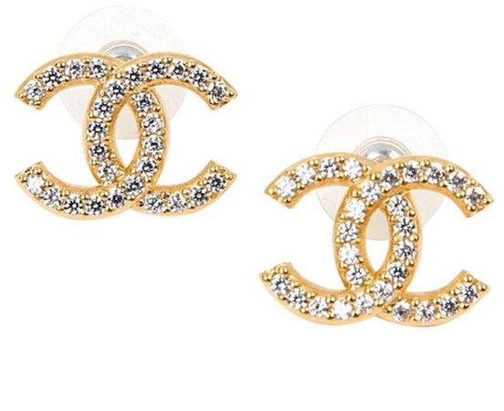gold double c earrings