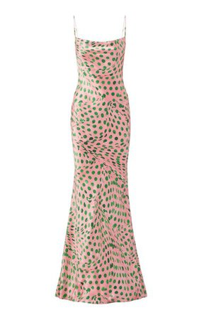 Audrey Dot Silk-Satin Slip Gown By Brandon Maxwell | Moda Operandi