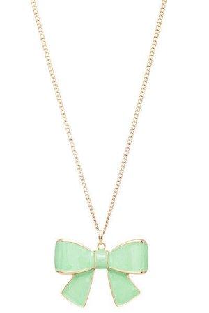 Mint bow necklace | Mint | Pinterest | Bow necklace, Mint green ...