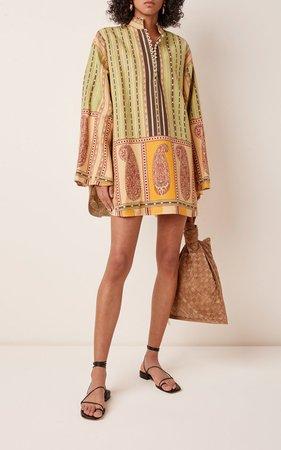 Printed Silk-Blend Mini Dress by Etro | Moda Operandi