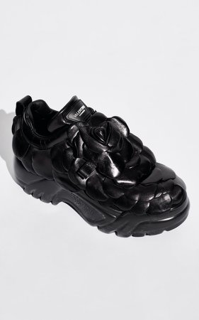 Valentino Valentino Garavani Rose Chunky Leather Sneakers