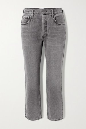 Ripley Mid-rise Straight-leg Jeans - Anthracite