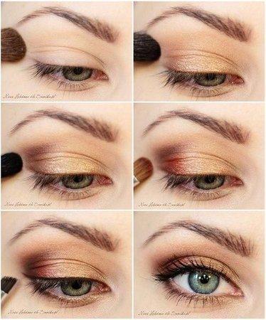 Metallic Autumn Eye Makeup Look