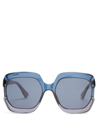 Gaia square-frame acetate sunglasses | Dior Eyewear | MATCHESFASHION.COM FR