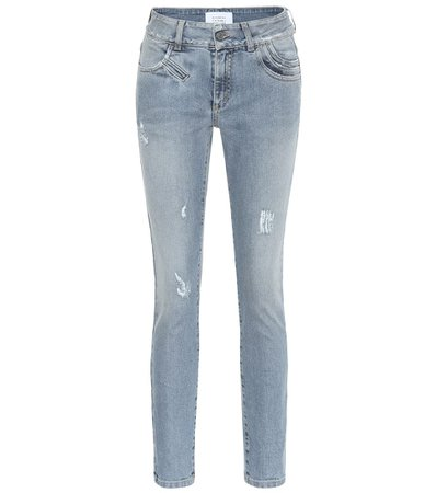 Givenchy - Distressed high-rise skinny jeans | Mytheresa