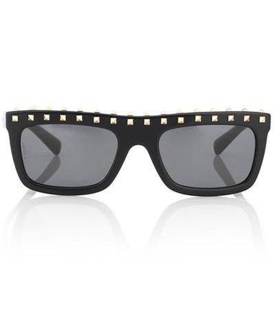 Studded acetate sunglasses