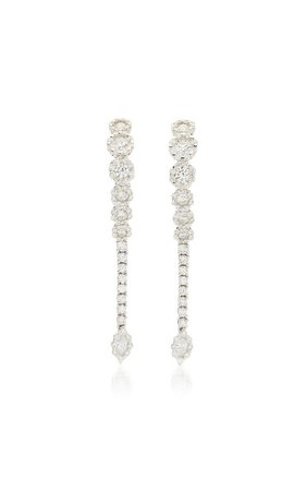 18K White Gold Y-Not Earrings by Yeprem | Moda Operandi