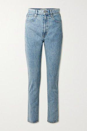 Beatnik High-rise Slim-leg Jeans - Light denim