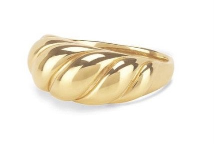 gold croissant ring