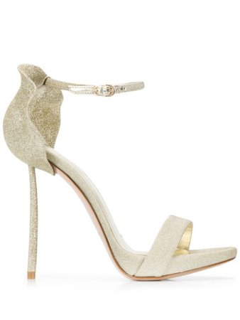 Le Silla Glittered Petal Back Sandals - Farfetch