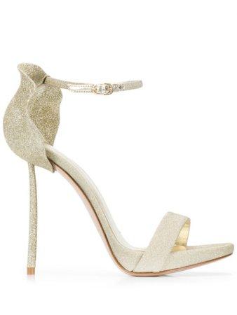Le Silla Glittered Petal Back Sandals - Farfetch