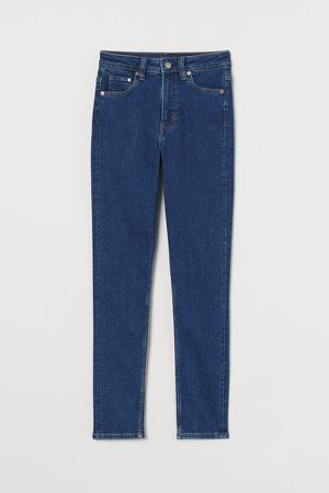 Vintage Skinny High Jeans - Blue