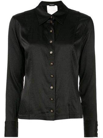 Chanel Vintage Long Sleeve Top Shirt - Farfetch