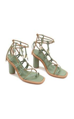 Cora Seashell Leather Sandals By Ulla Johnson | Moda Operandi