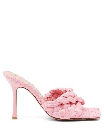 heels mules raffia