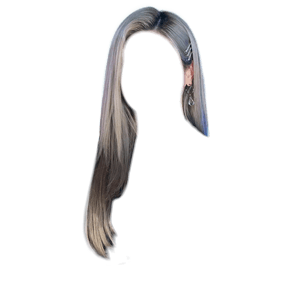 Gray Silver Platinum Blonde Hair PNG