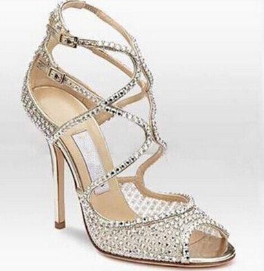Hot Summer Sexy Fashion High Heels Sandals Women Diamond Gorgeous Clear Heels
