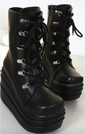 Black Gothic Platform Boots