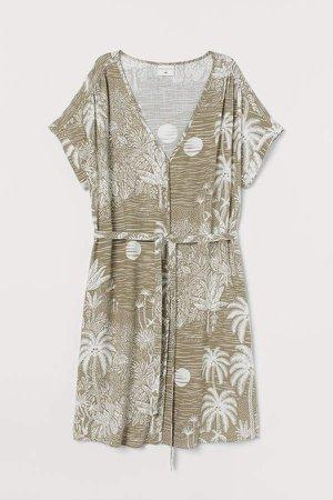 Linen-blend Dress - Green