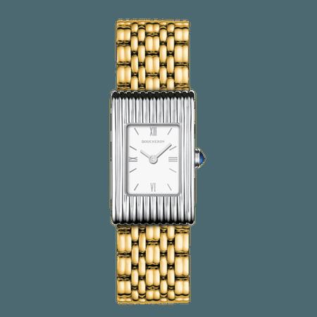Boucheron, two tone reflet watch