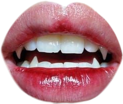 lips vampire fangs mouth - Sticker by Aesthetic