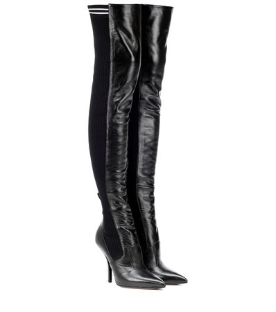 Fendi - Leather over-the-knee boots