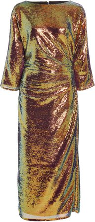 Sally LaPointe Iridescent Sequin Tee Dress