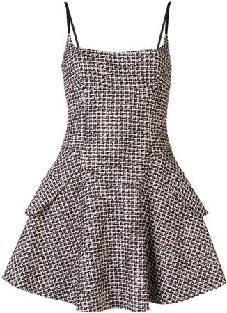 Tweed Flared Mini Dress