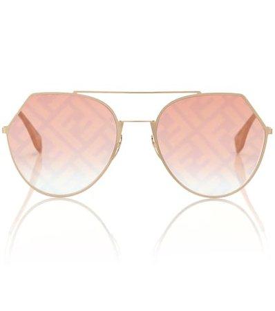 Fendi Fabulous Aviator Sunglasses   Fendi - Mytheresa
