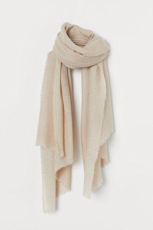 Wool-blend Scarf - Brown