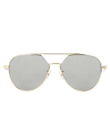 Bottega Veneta | Silver Flash Aviator Sunglasses | INTERMIX®