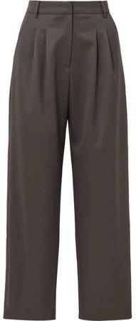 LOW CLASSIC - Wool-blend Wide-leg Pants - Gray