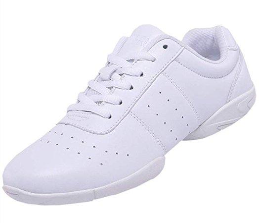 Amazon.com | DADAWEN Women's Sport Training Cheerleading Shoes Dance Shoes Fashion Sneakers Cheer Shoes for Girls White US Size 7.5/EU Size 39 | Team Sports
