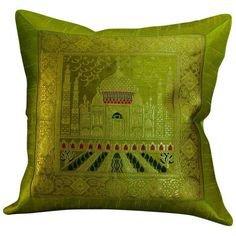green pillow 7