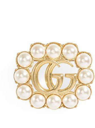 GG Imitation Pearl Brooch