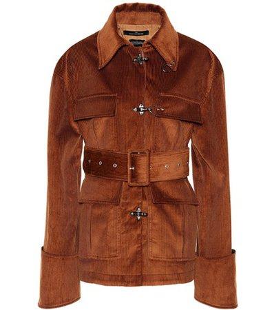 Belted corduroy jacket