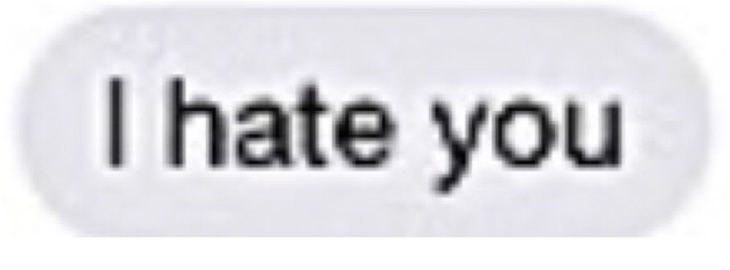 I hate you text