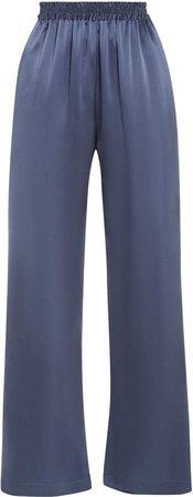 Sablyn Penelope Silk-Satin Straight-Leg Pants