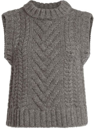 Cecilie Bahnsen Madelyn Sleeveless Wool-Blend Top