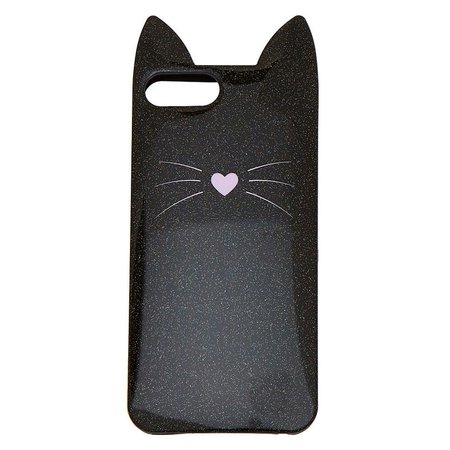 Black Cat Glitter Phone Case | Claire's US