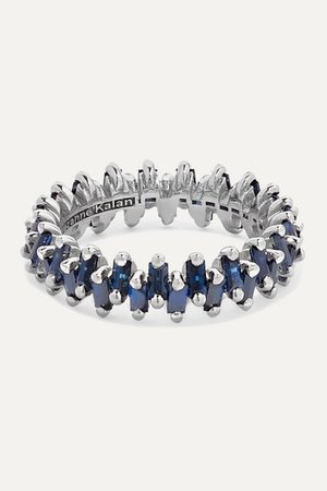 Suzanne Kalan   18-karat white gold sapphire ring   NET-A-PORTER.COM